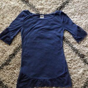 Free people intimately XS purple lace T-shirt